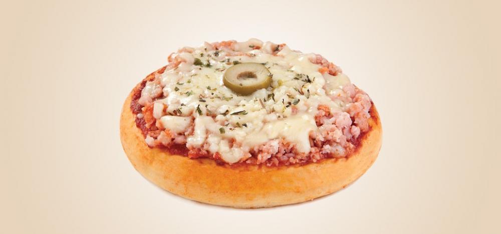 Mini Pizza Muçarela e Presunto
